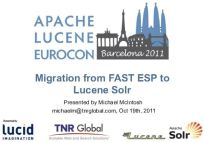 From Microsoft FAST to Lucene/Solr – Barcelona